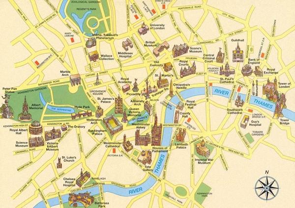 【我是达人】伦敦必游景点及地图_【我是达人