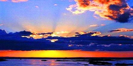 山东威海西霞口海驴岛,隆霞湖景区