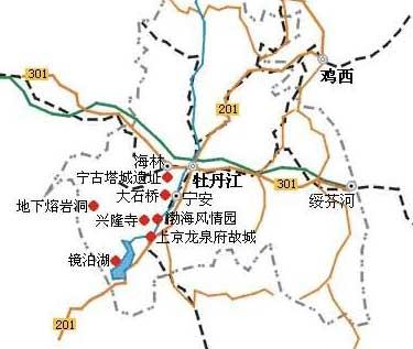 牡丹江高清地图,   黑龙江牡丹江地图