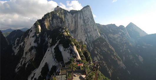 陕西西岳华山景区地图;