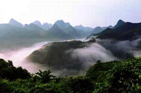 靖西古龙山旅游地图_靖西古龙山图片